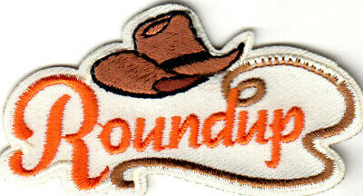ROUNDUP Iron On Patch Southwest Western Cowboys