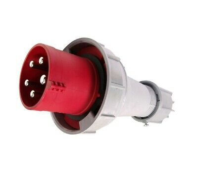 415v 65A 5 Pin Plug Connector Red Workshop Site Trailing Phase 63 Amp 035-6
