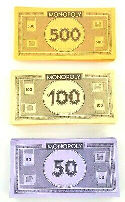 5 REPLACEMENT 1991 FRANKLIN MINT COLLECTOR/'S MONOPOLY $500 BILL DOLLAR MONEY