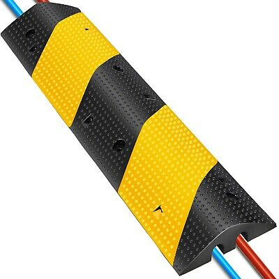 2 Channel Rubber Speed Bumps Electric Traffic Control Non-Deformed Modular