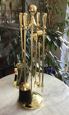 Vintage Retro 54CM TALL BRASS Fireside Companion Set HEAVY 2.6KG