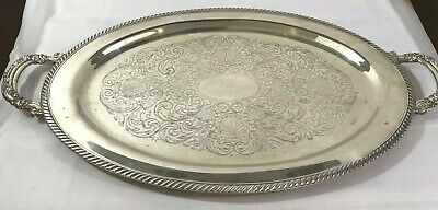 Vintage Wm A. Rogers Large Silverplate Victorian Style Platter - Gorgeous!
