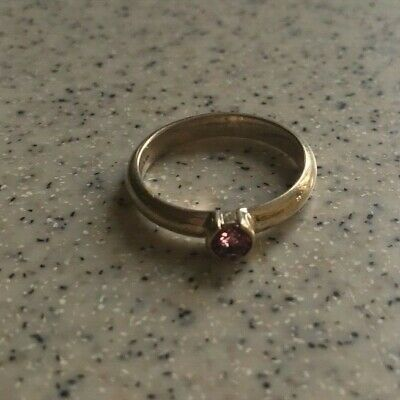 39a7dc19f Tiffany & Co. Elsa Peretti sterling silver stacking ring with pink  tourmaline, ...