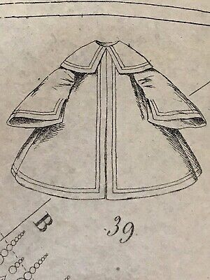 September 1860 SEWING PATTERNS for DOLLS and Ladies tracings