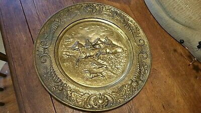 "Vintage 14 1/2"" Brass Stove Pipe Cover Plate Architectural Salvage Hunting..."