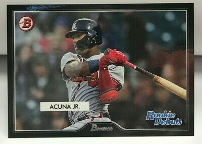 Ronald Acuna Jr 2019 Topps On Demand Inspired By '55 Bowman Rookie Debuts SP #R5