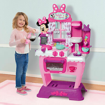 Minnie Mouse Pink Kitchen Play Set Kids Girls Pretend Toys Children Toddler Gift
