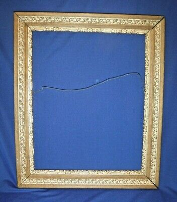 """Ornate~Antique~Victorian Gold Gesso~Oak Wood~Painting~Picture Frame 16"""" x 20"""" ID"""