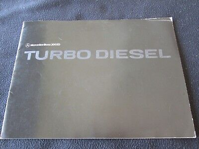 1979 1980 Mercedes Benz 300SD S-class Catalog 300 SD Turbo Diesel W116 Brochure