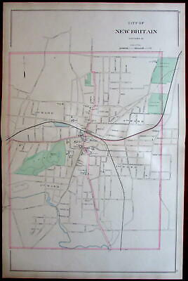 New Britain downtown Hartford County city plan 1893 Connecticut Hurd map
