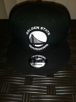 release date 15875 eadb7 New Era Golden State Warriors 9Fifty Snapback Hat - Black w White Logo - New