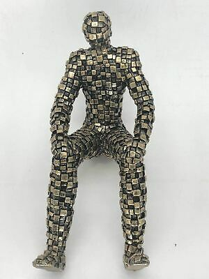 Abstract Surreal Puzzle Joker Man Figure Cold Cast Copper Resin Bronze Sculpture