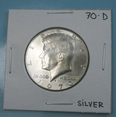 1970-D Kennedy Half Dollar 40% Silver Uncirculated