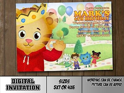 DANIEL TIGER PERSONALIZED Birthday Party Invitations And Thank You