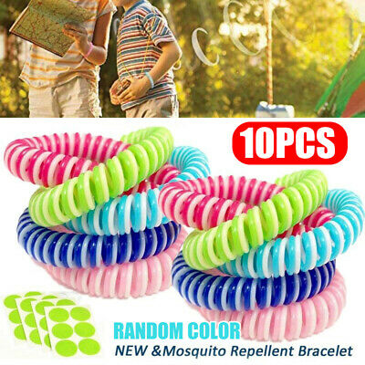 10+4 Mosquito Repellent Bracelet Band Pest Control Insect Bug Repeller Natural