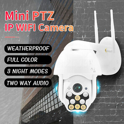 1080P HD Waterproof Outdoor IP IR Security Camera WiFi PTZ Pan Tilt Night Vision