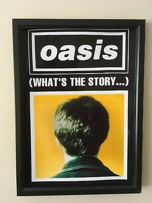 Oasis (what's the story)  A4 260gsm Framed Poster