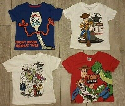 4222dfcd6e PRIMARK Boys Girls DISNEY TOY STORY 4 T Shirt Tee Top Alien T Rex Woody Buzz