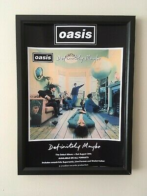 Oasis (Definitely Maybe)A4 260gsm Framed Poster