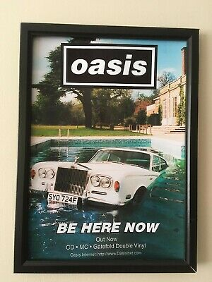 Oasis (Be Here Now)  A4 260gsm Framed Poster