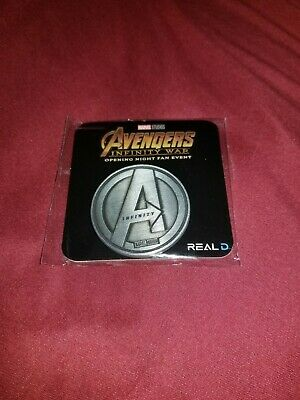 AVENGERS INFINITY WAR Fan Event Exclusive Collector Coin MARVEL IRON MAN