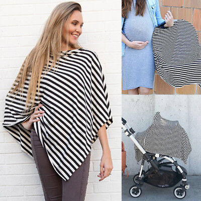 NEW Fashion Nursing Scarf Cover Up Apron for Baby Car Seat Canopy Cover Shawl AU