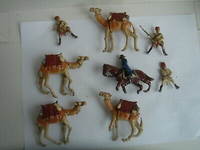 Vintage Solid Lead Camels And Soliders