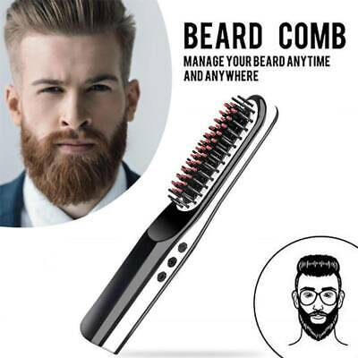 For Men/WomenPortable Mini Cordless Beard Straightener Electric Hair Brush Comb