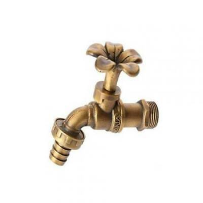 Brass Garden Water Tap Faucet Vintage Water Home Decor Outdoor Small Plumeria