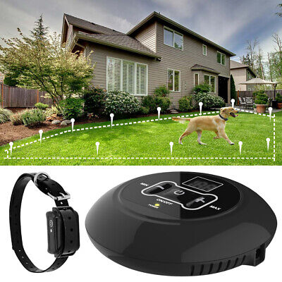 Wireless Electric Dog Fence Hidden Containment System Control Collar Waterproof