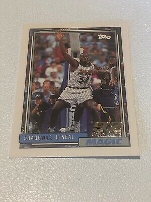 1992 93 Topps Shaquille Oneal Rc Rookie Card Magic Lakers