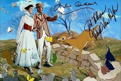 Julie Andrews Dick Van Dyke Mary Poppins Signed Autograph PRINT 6x4 Gift