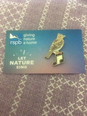 RSPB Pin Badge Let Nature Sing Skylark England