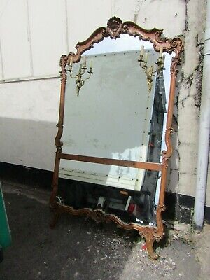 Huge and stunning antique French leaning or wall mirror,rococo/Louis XV style