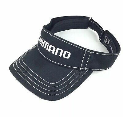 ed38fdc0 SHIMANO (Bicycle Gear) Embroidered Black Sun Visor Hat Adj. Adult Size  Cotton