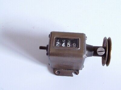 VINTAGE Veeder Mfg.Co Of Conn-USA (Aug 10th 1915) 4 Digit Counter WORKING ORDER