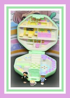 ❤️Polly Pocket Vintage 1990 Polly's School COMPLETE Compact Bluebird Dolls❤️