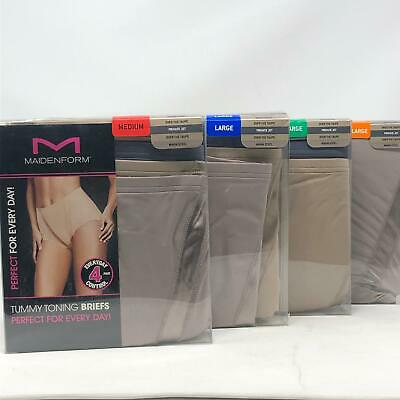 7612f3311eb2 Maidenform Women 4-Pack Everyday Control Tummy Toning Brief Panties Open  Packs