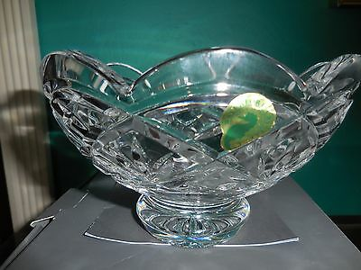 """Waterford CULLEN Crystal Footed Bowl 6"""" Scalloped Edge Made/Ireland with Box"""