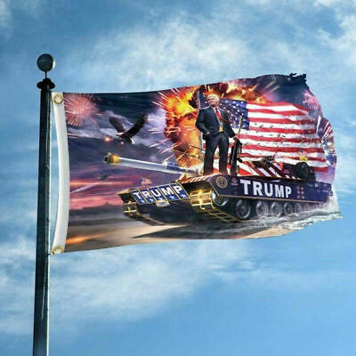President Trump Tank Flag Make America Great Again Donald Keep MAGA USA 2020
