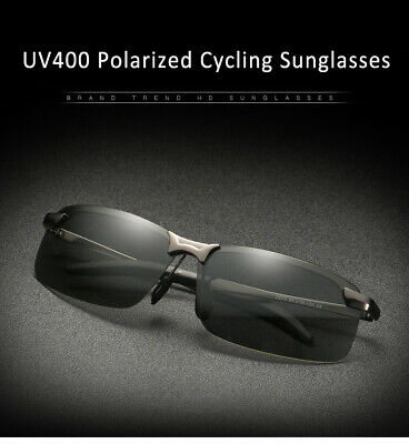 Mens Driving Goggles Outdoor Cycling Polarized Photochromic Sunglasses UV400