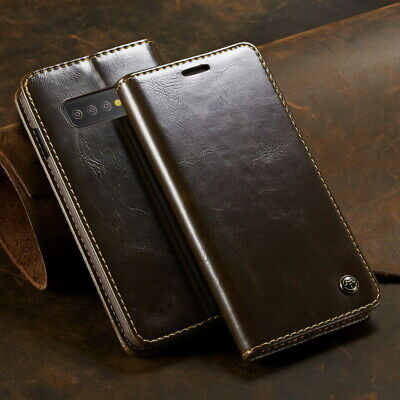 For Samsung Galaxy S10 Plus A70 A50 A9 Leather Wallet Clip Stand Flip Case Cover
