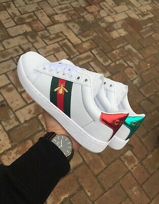 89f1d57d2f REPLICA GUCCI SCARPE Sneakers Ace Con Ricamo Ape Shoes Nero Num.36 ...