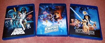 ORIGINAL STAR WARS Despecialized Trilogy  Deluxe Edition Blu Ray +