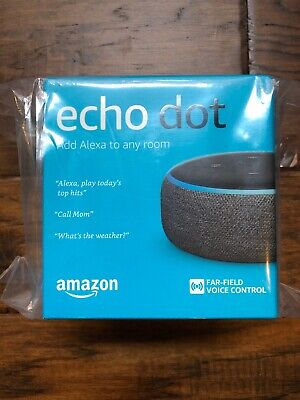 Amazon Echo Dot (3rd Generation) Smart Speaker - Charcoal - NEW