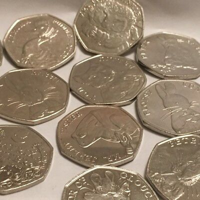 Beatrix Potter 50p Coins- Tittlemouse,Flopsy,Peter Rabbit,Puddleduck & many more
