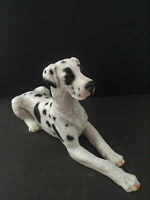 Great Dane dog BROWN figure Castagna laying hand made in Italy with certificate
