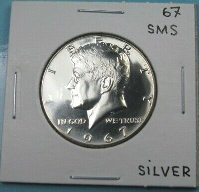 1967 Sms Proof-Like Kennedy Half Dollar From Special Mint Set 40% Silver