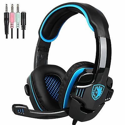SADES SA708GT Gaming Headset for Xbox One, PS4, PC, Volume Controller, Noise Can
