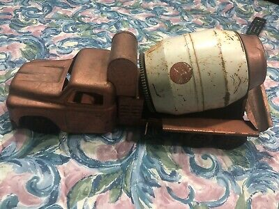 Vtg 1950's Structo Cement Mixer Truck Pressed Steel Toy USA Good Shape 🔥🔥